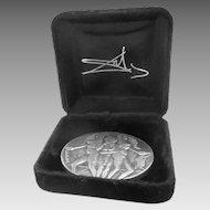 Salvador Dali Peace Silver Medal 1978 Original