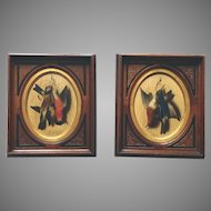 Pair Oil Painting Game Birds M. Meucci Italian, 1840-1890