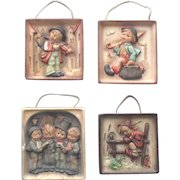 Vintage Hummel Wall Plaques Collection of 4 TMK1 Crown Mark 1935-1949