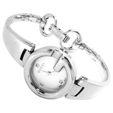 Gucci Guccisima Diamond Stainless Steel Women's Watch