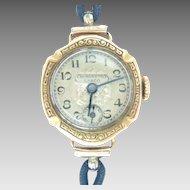 Vintage 18K Yellow Gold Lanco Ladies Wrist watch