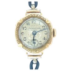 Vintage 18K Yellow Gold Lanco Ladies Wrist watch