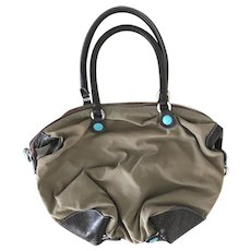 GABS Italy Leather & Cotton Transformable Versatile Bag