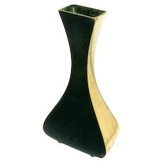 Art Deco Bud Vase Karl Hagenauer Bronze Austria C.1930