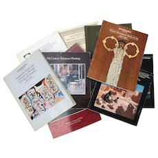 Auction Catalogs Sothebys lot of 9 1980-1989