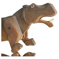 A Rare Wooden Hippo - Oswald Pontius, Munich, 1922-33