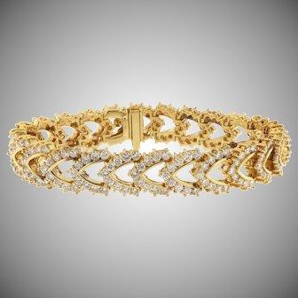 Estate  Bracelet with 11 cts fine diamonds, 18kt Gold