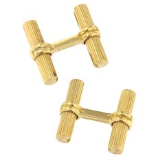 Vintage 1960 BOUCHERON 18K Yellow and White Gold Cufflinks