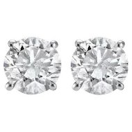 1.05ct Diamond Stud Earrings in White Gold