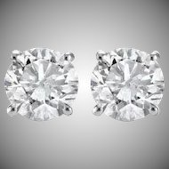 1.05ct Diamond Stud Earrings in White Gold