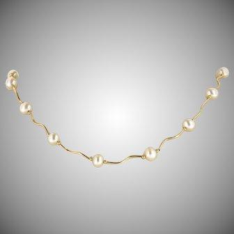 Vintage 14K Pearl Necklace