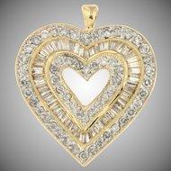 Vintage Diamond Heart Shaped Pendant
