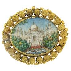Vintage Mosaic Taj Mahal Brooch