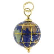 Vintage 18K Globe Pendant