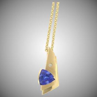 Vintage Tanzanite and Diamond Necklace