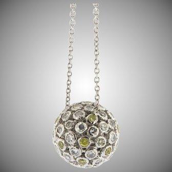 Vintage Diamond Ball Necklace