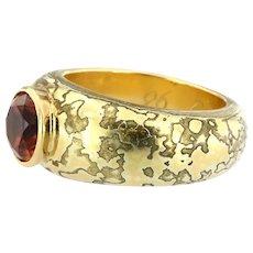 Vintage 18kt and 22kt Gold with Garnet Pyrope Spessartite  Ring