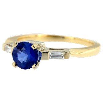 Vintage Sapphire Diamond Engagement