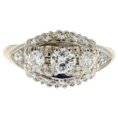14 kt Vintage 0.60 ct Diamonds 3 Stone Ring