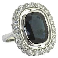 Vintage Diamond & Sapphire Ring