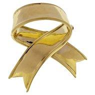 Tiffany & Co. 18K Yellow Gold Bow Brooch