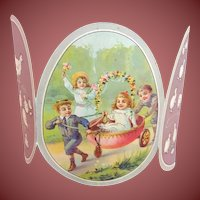 Souvenir Card for Children to Easter  from Paris,,Au Bon Marche,,   about 1900