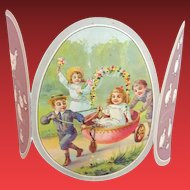 Souvenir Card for Children to Easter  from Paris,,Au Bon Marche,,   about 1900