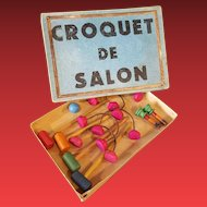 Antique  fashion doll game,,Croquet de Salon,, Paris  about 1900