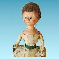 Rar Queen Anne Doll  wooden  all original 1760/80