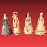 Rar Russian Dolls cotton wool and paper