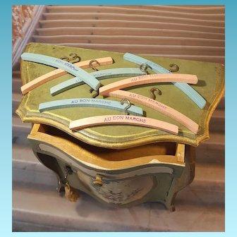 8 Doll Hanger(4,7inches) antique original Au Bon Marche paris