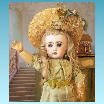 Beautiful  Tete Jumeau 5 in factory dress