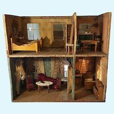 All original antique german dollhouse ca.1880