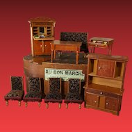 German antique dollhouse furniture group /about 1900