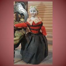 Nice tiny dollhouse doll 3,9 inches