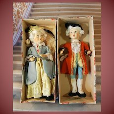 All orig.Baitz.-.Mozart and his Wife- dolls-in original box