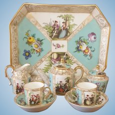 Early french miniature porcelan Service