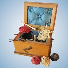 Sweet antique handicraft box
