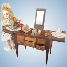 Rar french antique beauti table for fashion dolls