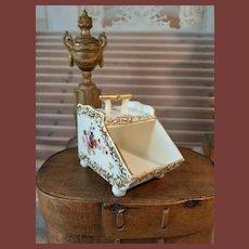 Rar french Coal -Box in porcelain