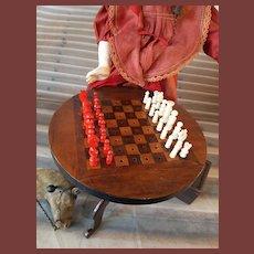 French doll chess table napoleon trois