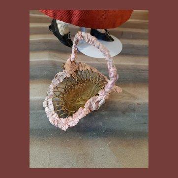 Rar french ormolu basket for doll