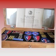 WWII  Air force: Patches/Bars/and Display Case