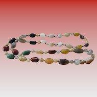 Vintage Agate Single Strand Necklace