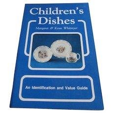 """1980s  """"Children's Dishes"""" Identification Book - Red Tag Sale Item"""