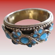 1950s Cuff Aqua Marine Colored Bracelet