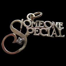 """Gold 14 KP/Diamond """"Someone Special"""" Pendent or Charm"""
