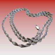 "Italian 925 Silver Twist 14"" Chain"
