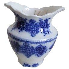 1896 Flow Blue W.H. Grindley Vase