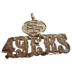 49ers 14kt Gold NFL 1986 Pendent